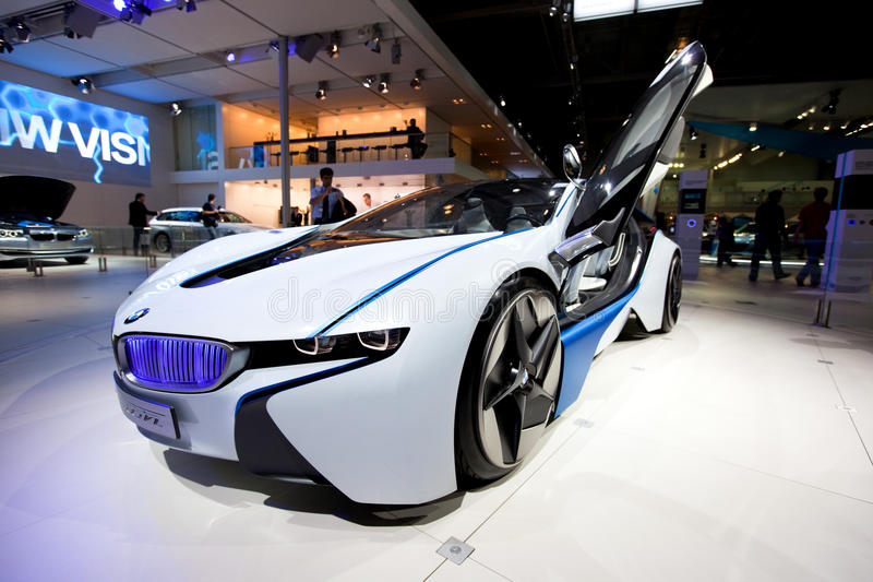 Véhicule superbe de BMW Hybid photographie stock libre de droits