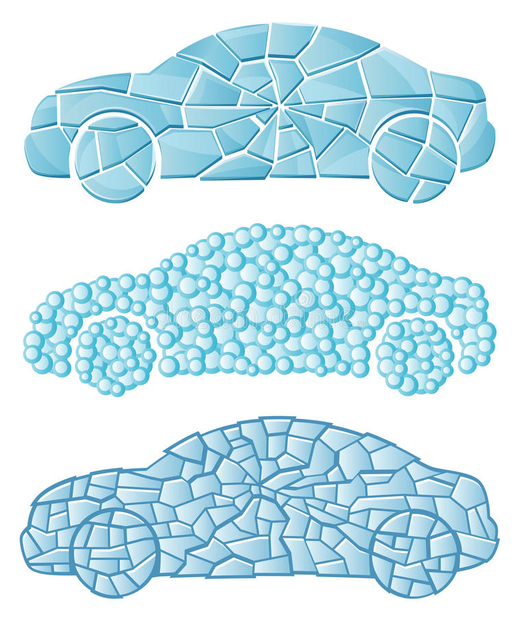 Véhicule texturisé illustration stock