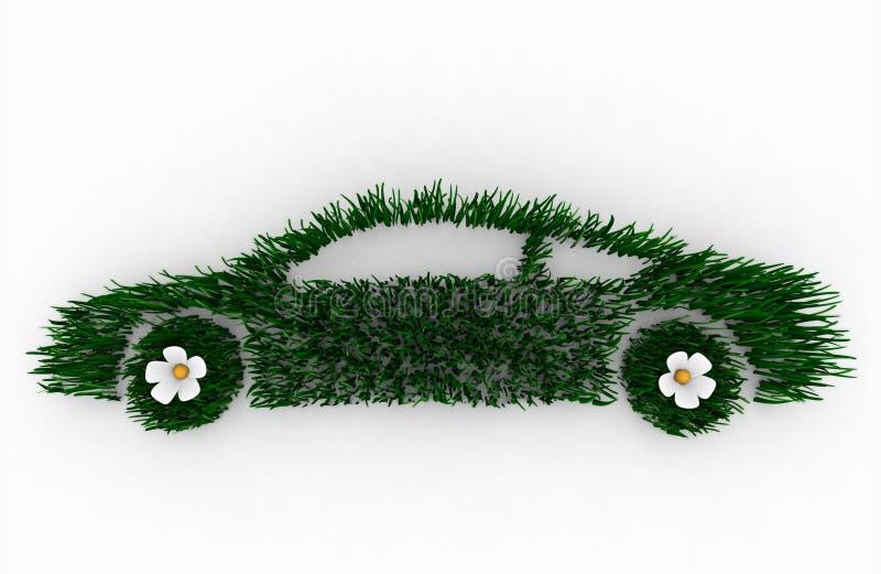 Véhicule vert fait en herbe illustration libre de droits