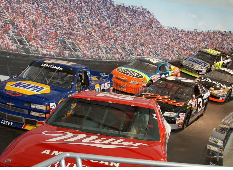 Véhicules de chemin de Panthéon de NASCAR image libre de droits