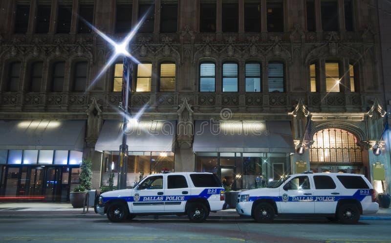 Véhicules de police à Dallas photos stock