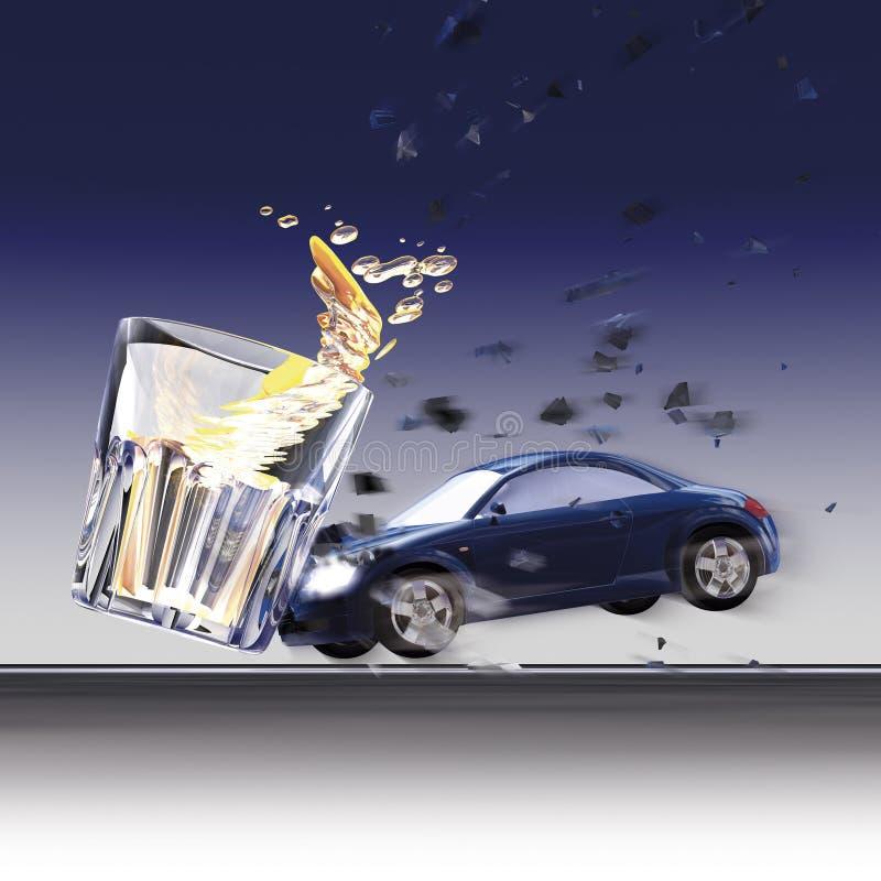 Véhicules et glace de crash illustration stock