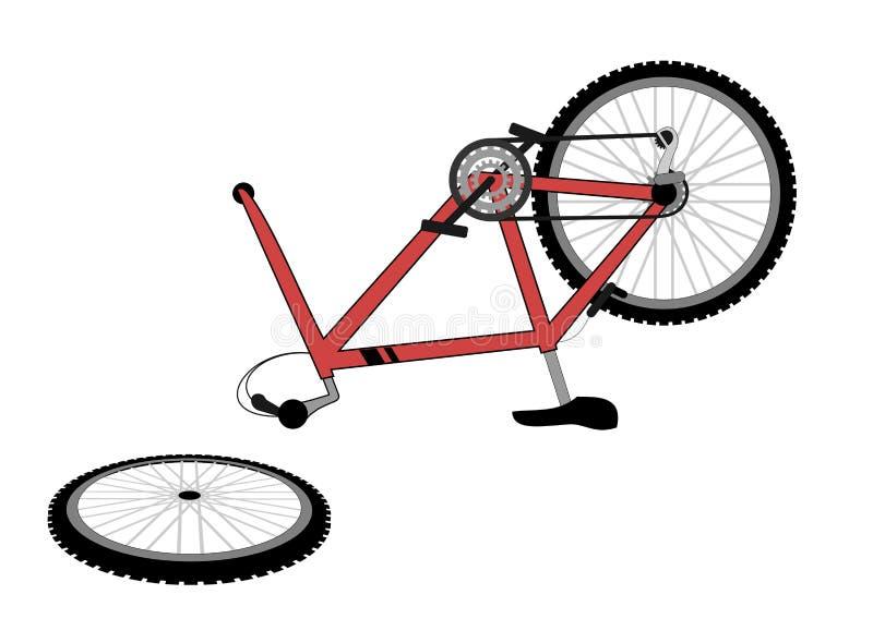 Vélo cassé illustration libre de droits