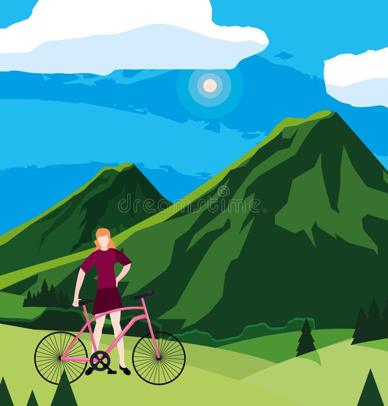 Vélo d'équitation d'homme illustration de vecteur