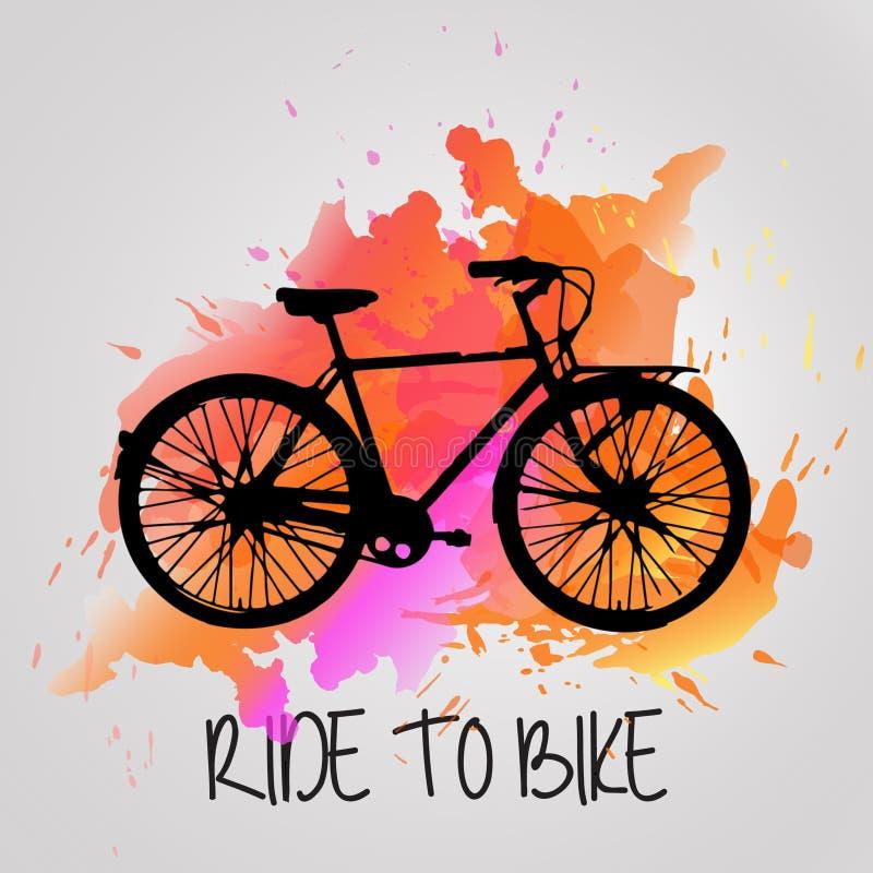 Vélo d'aquarelle illustration stock