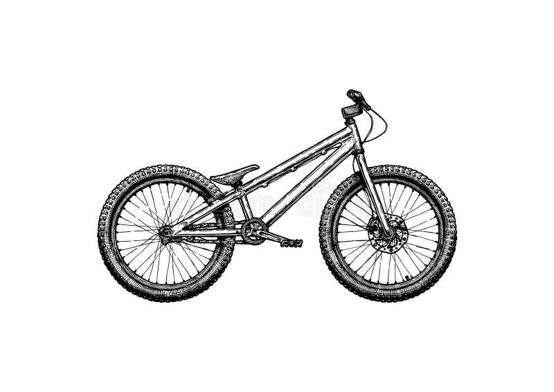 Vélo d'essai, actions illustration de vecteur