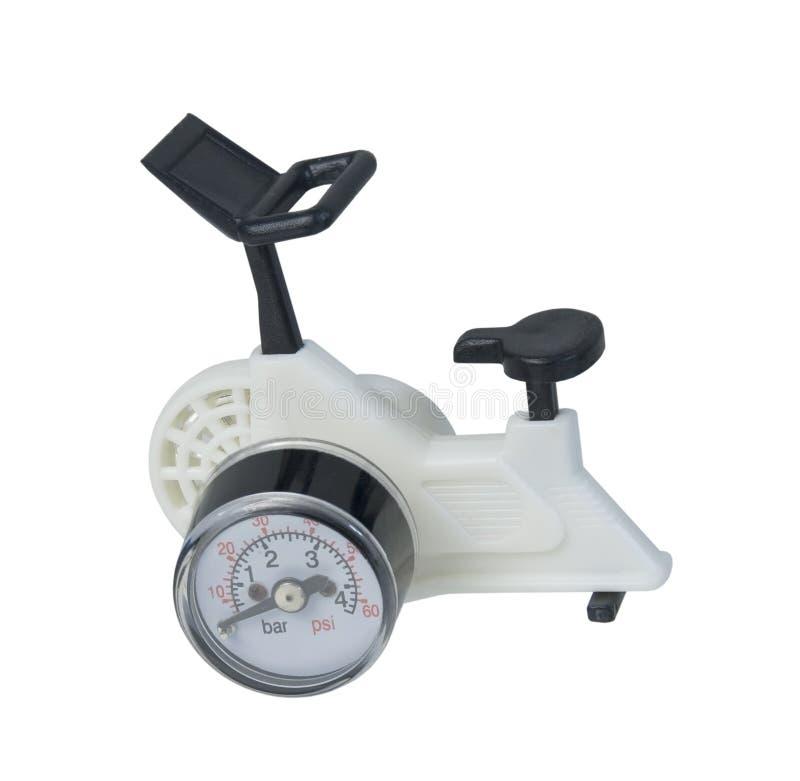 Vélo d'exercice avec la mesure images libres de droits