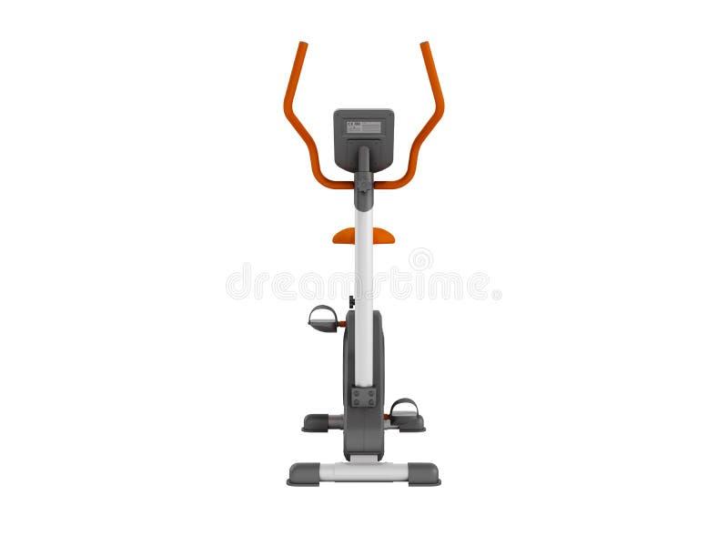 Vélo d'exercice moderne de sport pour l'usage à la maison avec la forme physique électronique illustration libre de droits