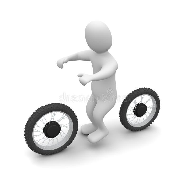 Vélo d'homme et de saleté illustration de vecteur