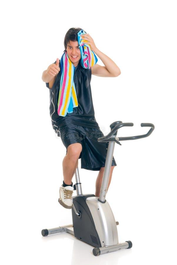 Vélo De Forme Physique D Adolescent Photos libres de droits