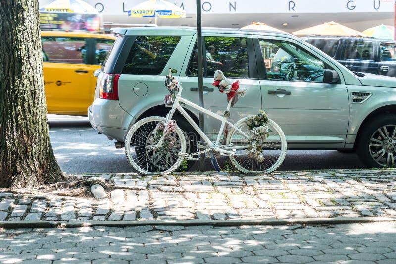 Vélo de Ghost à New York images libres de droits