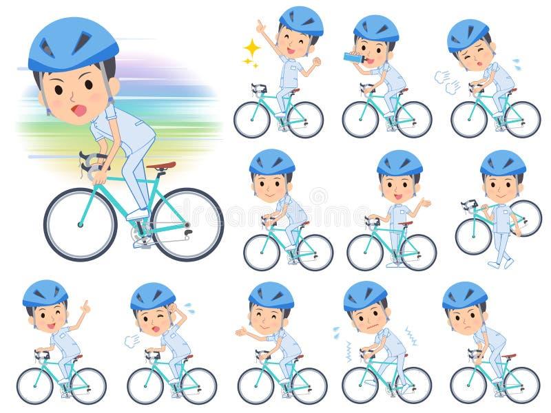 Vélo de men_road de chiroprakteur illustration libre de droits