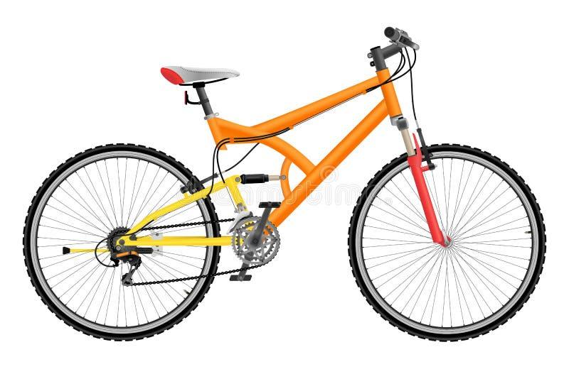Vélo de montagne de deux suspensions illustration de vecteur