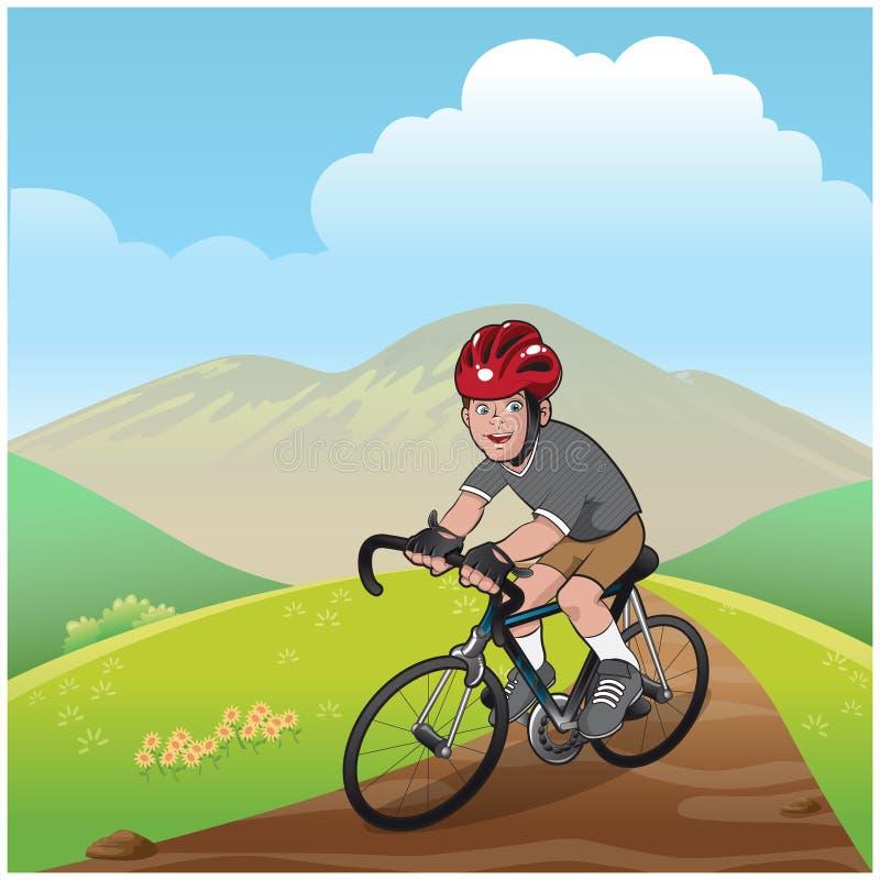 Vélo de montagne de garçon illustration libre de droits