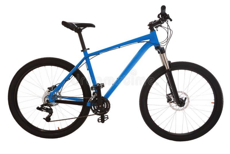 Vélo de montagne vert d'isolement sur le fond blanc photographie stock
