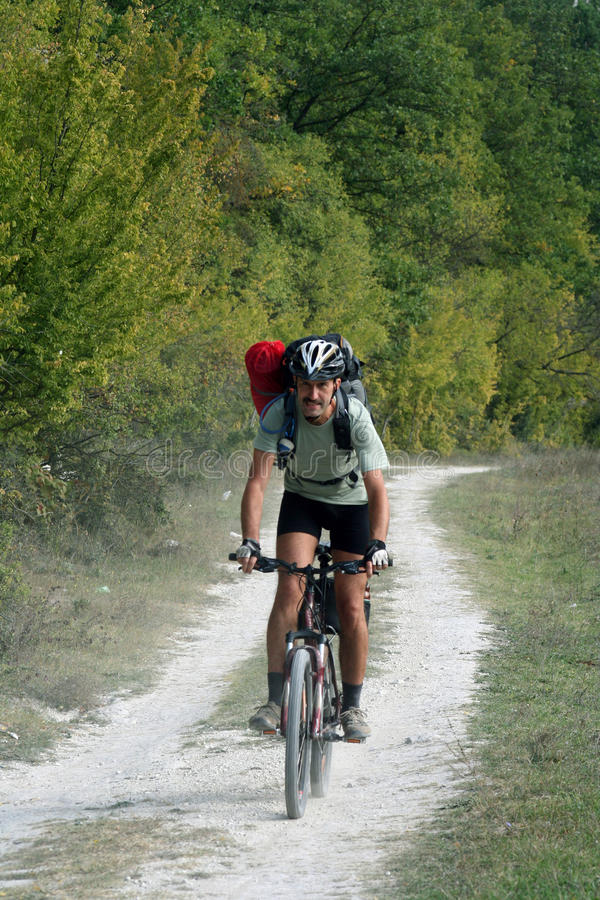 Vélo de montagnes photo stock