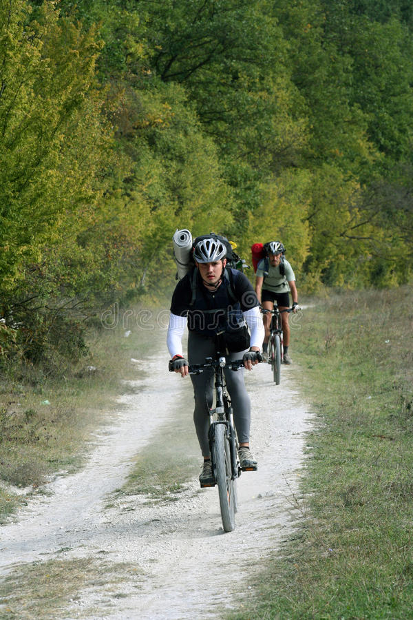 Vélo de montagnes photos stock