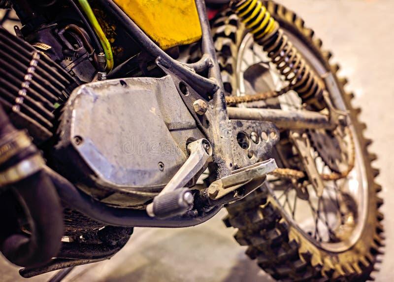 Vélo de motocross de vintage photographie stock libre de droits
