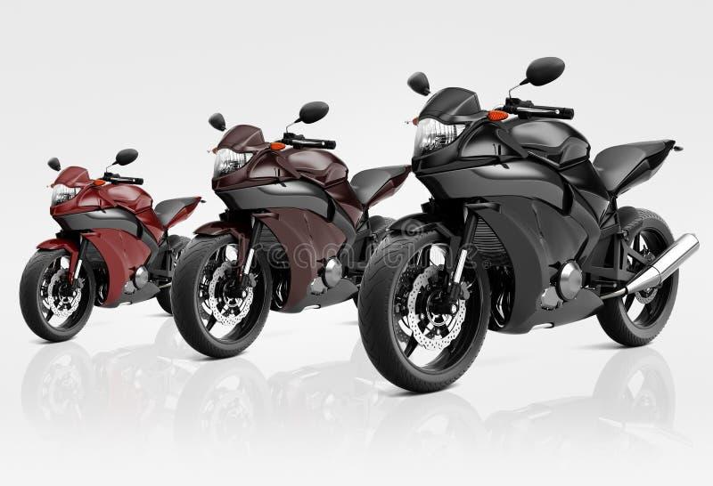 Vélo de motocyclette de moto montant Rider Contemporary Concept illustration libre de droits