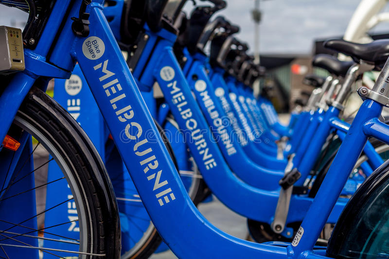 Vélo de part de Melbourne photographie stock