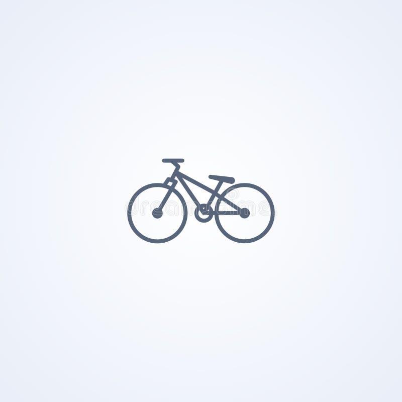 Vélo de saleté, la meilleure ligne grise icône de vecteur illustration de vecteur