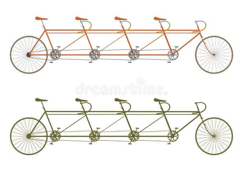 Vélo de tandem de vintage illustration stock