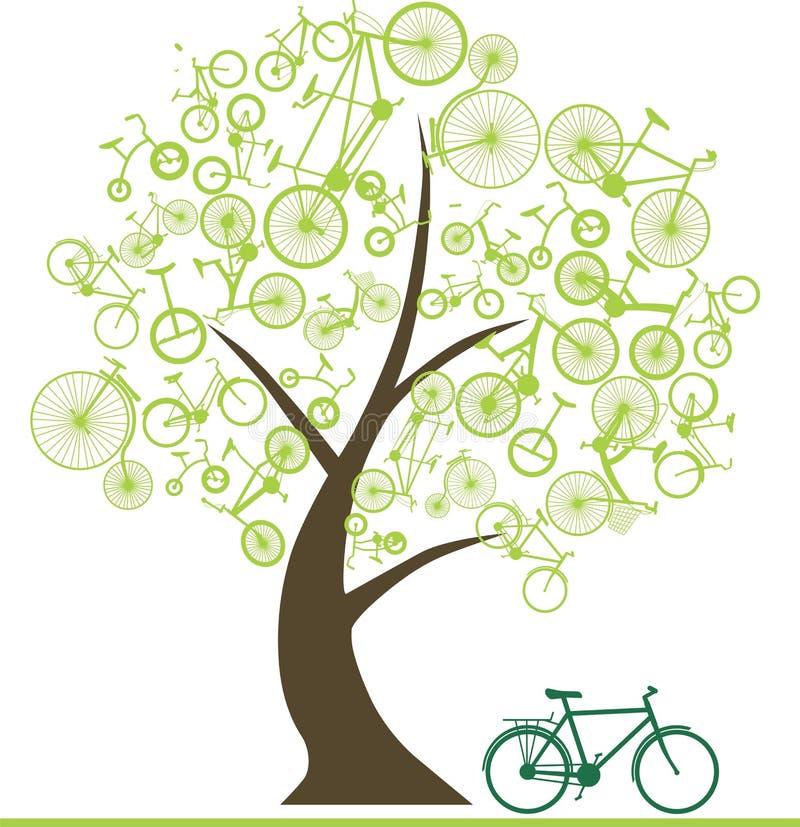 Vélo des arbres images libres de droits