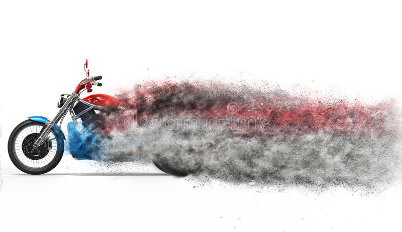 Vélo - dispersion de particules illustration stock