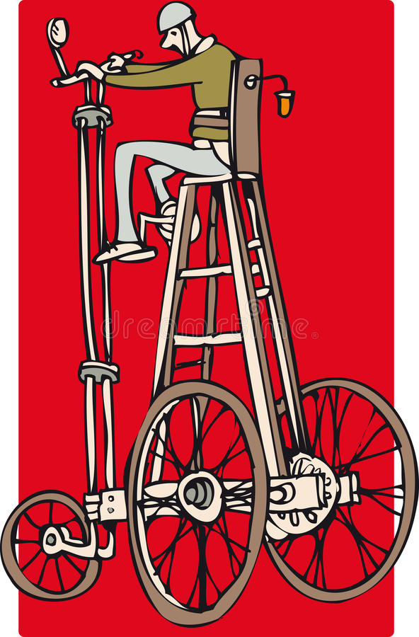 Vélo grand illustration libre de droits