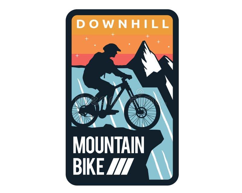 Vélo incliné moderne Logo Badge Illustration illustration de vecteur