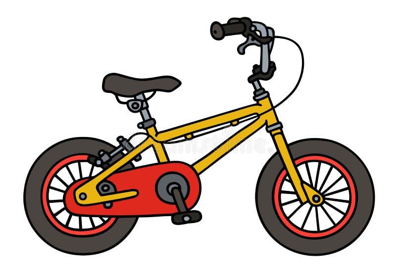 Vélo jaune d'enfant illustration de vecteur