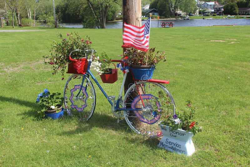 Vélo patriotique photos libres de droits