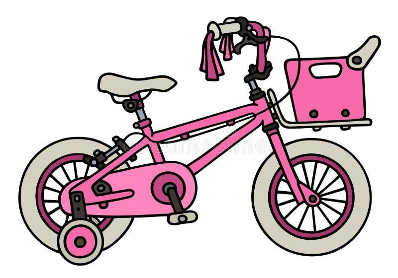 Vélo rose d'enfant illustration de vecteur
