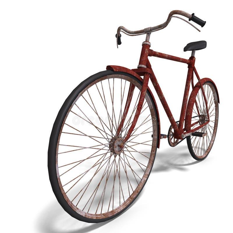 vélo rouillé illustration de vecteur