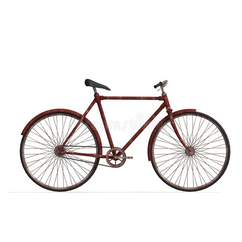 vélo rouillé illustration libre de droits