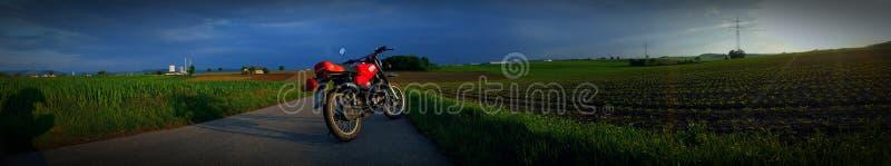 Vélo, Sun, temps, rouge, simson, RDA photo libre de droits