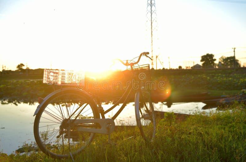 Vélo sur le paysage photo libre de droits