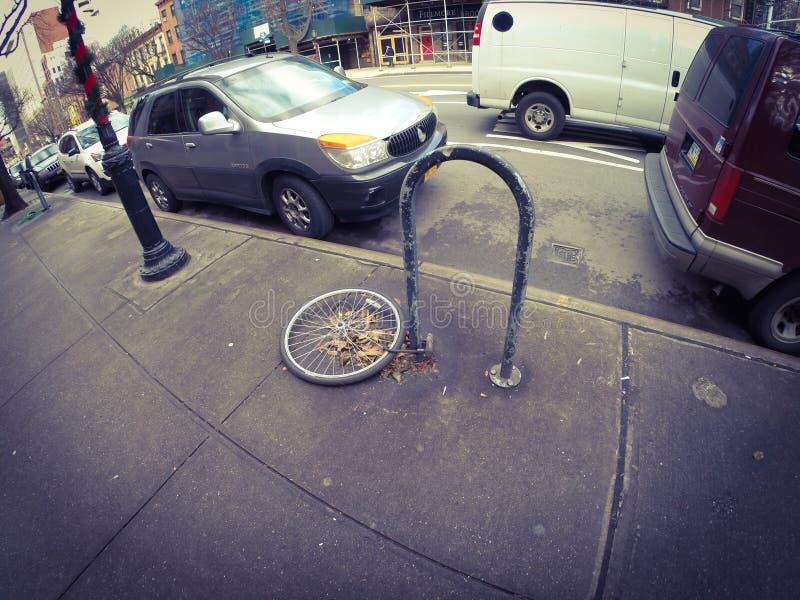 Vélo volé photographie stock libre de droits