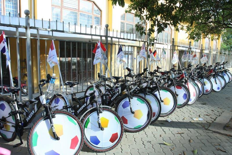 Vélos admirablement décorés image stock