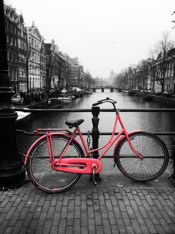 Vélos d'Amsterdam photographie stock