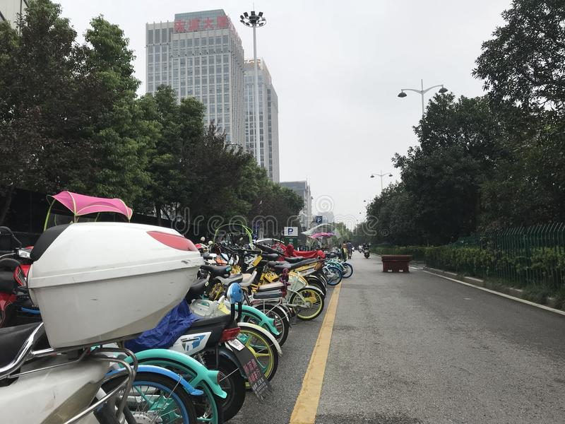 Vélos de la Chine image libre de droits