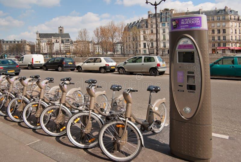Vélos de Velib, Paris image libre de droits