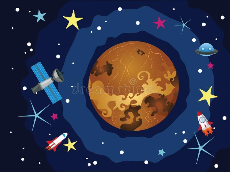 Vénus dans l'espace illustration stock