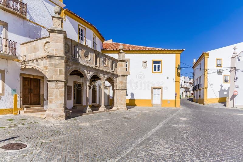 Véranda Grao-antérieure dans Crato, Alto Alentejo, Portugal photo libre de droits