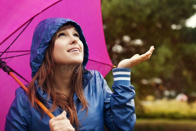 Vérification la pluie image stock