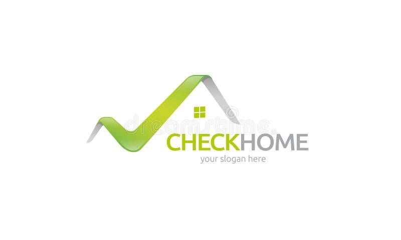 Vérifiez le logo à la maison illustration de vecteur