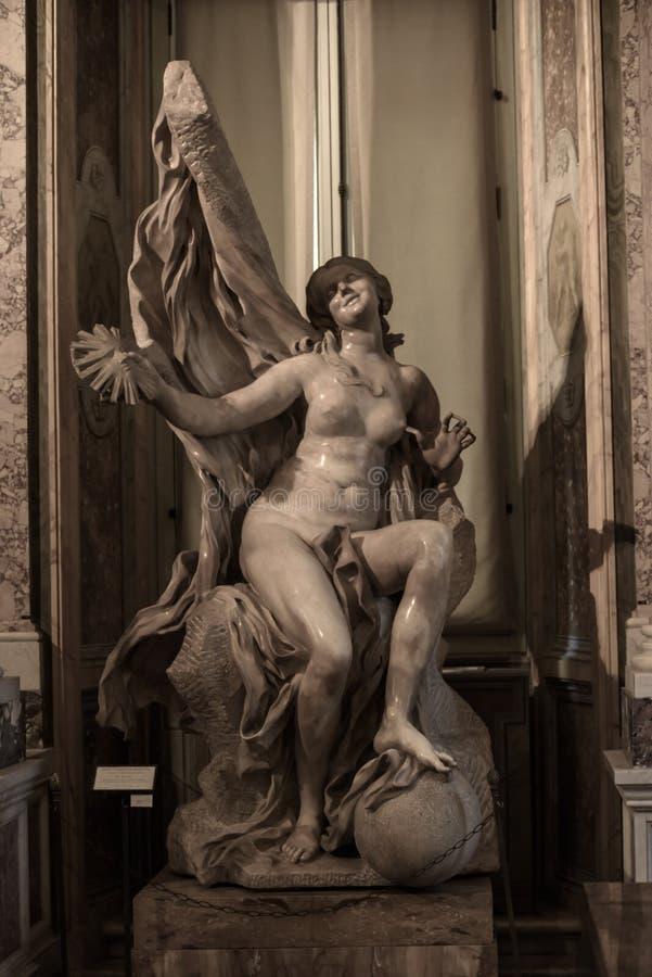 Vérité dévoilée par temps par Gian Lorenzo Bernini photos libres de droits