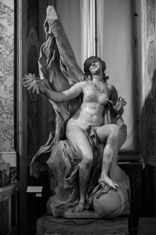 Vérité dévoilée par temps par Gian Lorenzo Bernini images libres de droits
