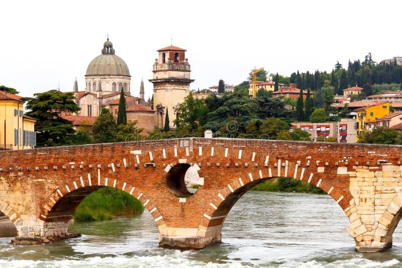 vérone Pont St Peter photo stock