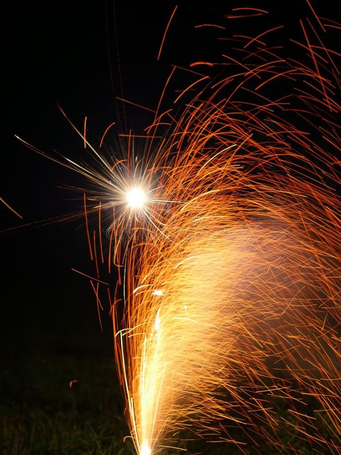 Véspera de Ano Novo dos fogos-de-artifício fotografia de stock royalty free